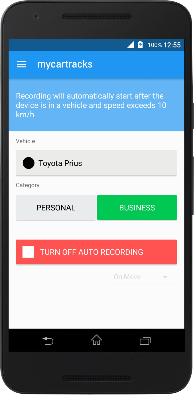 MyCarTracks Android app
